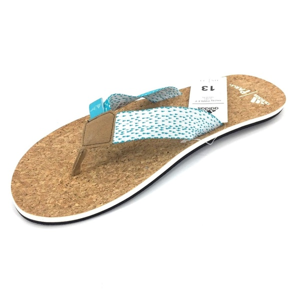 ae08128ac4f14 Men s Adidas eezay Parley Flip Flop Sandals Sz 13